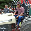 Dick Olson gets ready for a run during the antique tractor pull Saturday. Photo by Pat Christman