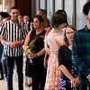 BEN GARVER — THE BERKSHIRE EAGLE<br /> Students line up outside the Taconic High School auditorium before graduating  from the Pittsifield Adult Learning Center, Thursday, June 13, 2019.