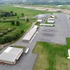 BEN GARVER — THE BERKSHIRE EAGLE<br /> This is a view of the Hangars at Pittsfield Municipal Airport, The airport can house about 50 aircraft and has a waiting list for about 30 more. Future airport expansions might include more hangar space. THe airport is closed for resurfacing of both runways.