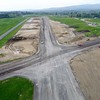 BEN GARVER — THE BERKSHIRE EAGLE<br /> The runway surfaces at Pittsfield Municipal Airport are being resurfaced and updated for safety. Runways 8/26  and 14/32 are both closed during the construction and the airport is thus closed. This is the south end of 8/26.