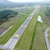 BEN GARVER — THE BERKSHIRE EAGLE<br /> The runway surfaces at Pittsfield Municipal Airport are being resurfaced and updated for safety. Runways 8/26  and 14/32 are both closed during the construction and the airport is thus closed. This is a view of runway 26 looking south.