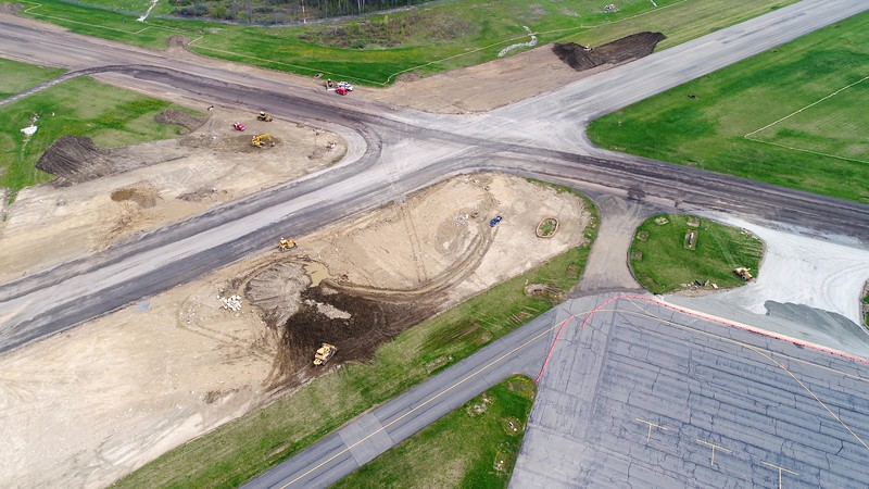 BEN GARVER — THE BERKSHIRE EAGLE<br /> The runway surfaces at Pittsfield Municipal Airport are being resurfaced and updated for safety. Runways 8/26  and 14/32 are both closed during the construction and the airport is thus closed.