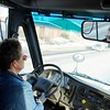 BEN GARVER — THE BERKSHIRE EAGLE<br /> Jayne Stohr is a substitute driver for the Pittsfield school bus fleet.  Her job is to keep backup busses ready and warmed up in case they are needed or spare driver is needed.  The busses have winter fuel mix but still struggle to start in low temperatures. Stohr has a series of systems to check before a bus is driven, in fact, every bus is inspected like this every morning. Stohr drives the busses on a short route to make sure the fuel is mixed properly.