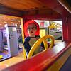 KRISTOPHER RADDER — BRATTLEBORO REFORMER<br /> Soren McFalls, 1, from Newfane, plays inside a train at KidsPLAYce, in Brattleboro, during Last Night Brattleboro, on Tuesday, Dec. 31, 2019.