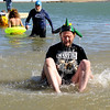 Aaron Dew, of Boulder, enjoys the shock of the cold water on Saturday, Feb. 26, during the Law Enforcement Torch Run Polar Plunge for Colorado Special Olympics at the Boulder Reservoir.<br /> Jeremy Papasso/ Camera