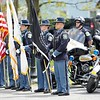 BEN GARVER — THE BERKSHIRE EAGLE<br /> Berkshire County Sheriff Department Honor Guard. <br /> Local law enforcement in show respect for fallen officers during the Police Memorial Day celebration in Pittsfield on the Common, Wednesday, May 15, 2019.  In 1962, President John F. Kennedy signed a proclamation which designated May 15 as Peace Officers Memorial Day.