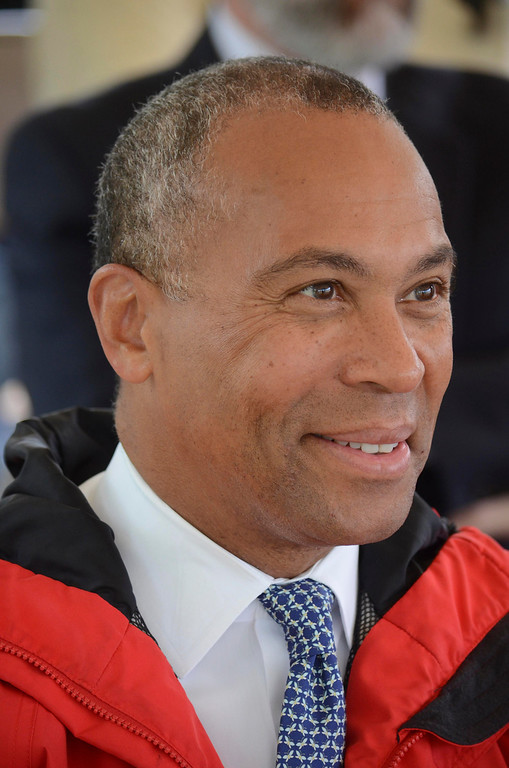 . Governor Deval Patrick was at a groundbreaking ceremony in Lee for the repair of Tyringham Road. Monday June 9, 2014.  Ben Garver / Berkshire Eagle Staff / photos.berkshireeagle.com