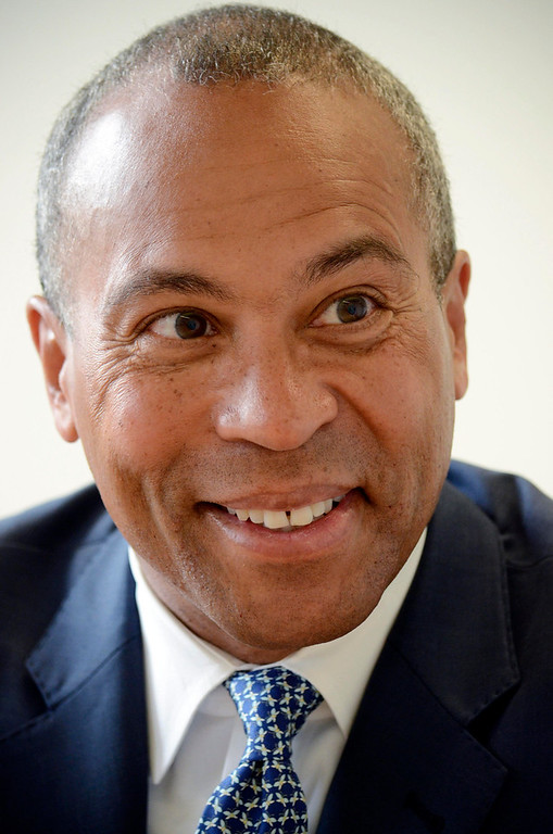 . Governor Deval Patrick at the Berkshire Eagle, Monday June 9, 2014.  Ben Garver / Berkshire Eagle Staff / photos.berkshireeagle.com