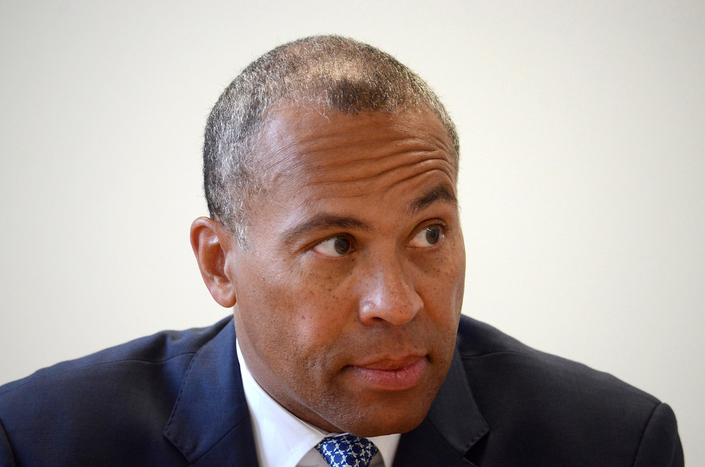 . Governor Deval Patrick responds to the Berkshire Eagle editorial board, Monday June 9, 2014.  Ben Garver / Berkshire Eagle Staff / photos.berkshireeagle.com