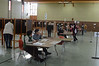 Voting was steady at the city's main polling station at St. Elizabeth of Hungary Parish Center in North Adams on Tuesday November 5, 2013. (Gillian Jones/North Adams Transcript)