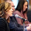BEN GARVER — THE BERKSHIRE EAGLE<br /> Berkshire County District Attorney Andrea Harrington speaks during the Poverty Forum presented by the Berkshire County Community Action Council at Williams College, Friday, January 11, 2019.