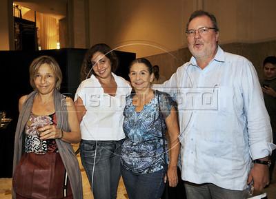 Premio ACIE de Cinema 2012- Anja Kessler, esq, Cristina ,  Mery Galanternik,  presidente da ACIE, e, Jens Glusing, Rio de Janeiro, Brazil, Abril 16, 2012. (Austral Foto/Renzo Gostoli)