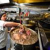KRISTOPHER RADDER - BRATTLEBORO REFORMER<br /> Nikki Peruzzi, head chef at Whetstone Station Restaurant and Brewery, prepares corned beef for St. Patrick's Day on Friday, March 17, 2017. According to the Diocese of Manchester, N.H. and Diocese of Burlington, Vt., said that it is okay for Catholics to enjoy corned beef on this Friday.