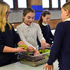 KRISTOPHER RADDER - BRATTLEBORO REFORMER<br /> Students at St, Michael Catholic School prepare meals on Wednesday, Jan. 31, 2018, for St. Brigid's Kitchen. The students will serve the meals to around 140 guests at Saint Brigid's Kitchen on Thursday.