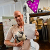KRISTOPHER RADDER - BRATTLEBORO REFORMER<br /> Walter Hagedorn, the creator of The Love Sheep, prepares on Friday, June 8, 2018, for the sheep's launch of SheepX at Pliny Park on Friday, July 6, 2018.
