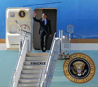 President Obama Arrives at Dobbins Air Reserve Base