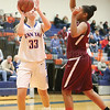 Emalee Rose Brockman during the Lady Mustangs' varsity basketball game, Monday, Jan. 9.