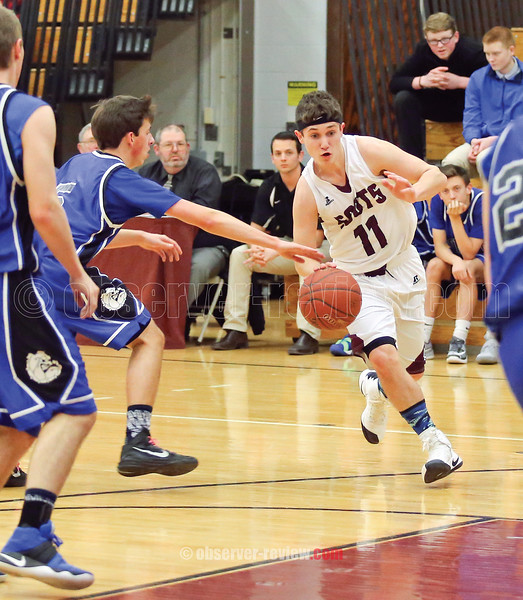 Kyle Cratsley drives to the basket against Honeoye, Friday, Jan. 20.