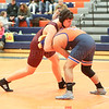 Harry Nice sets up a takedown in the match against Penn Yan.