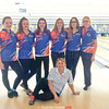 The Penn Yan girls finished in second place last week. Pictured are McKelvie Jensen, Brandee Ellis, Emily Augustine, Kari Ayers, Rielly Stewart, Emilie Thomas and Coach Johnson (sitting).  Photo Provided