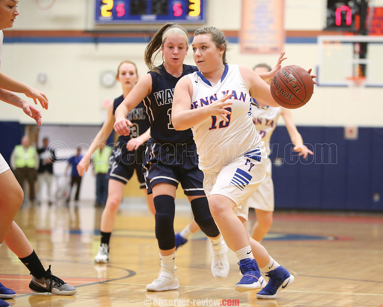 Cassidy Prather moves to the basket last Wednesday for Penn Yan.