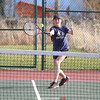 Singles player Jill Cantieni returns a serve, Wednesday, April 5.