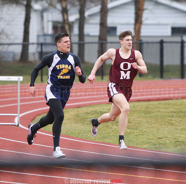 Andy Fudala had a number of first place finishes in the track meet against Tioga.