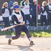 Erika Cooper gets a hit for Penn Yan in the game against Newark last week.