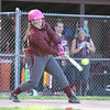 Breanna Bentley connects for the Indians last Wednesday.