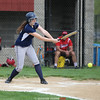 Brienna Solomon hits a grounder for Watkins Glen, Friday, April, 28.