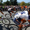 Onlookers are kept back at Canyon Boulevard and 17th Street during the USA Pro Cycling Challenge in Boulder Saturday Aug. 25, 2012. (Lewis Geyer/Boulder Daily-Camera)