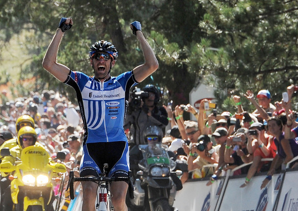 """Rory Sutherland wins stage 6 on Flagstaff Mountain of the USA Pro Cycling Challenge on Saturday, August 25, 2012, outside Boulder, Colorado.<br /> For more photos and videos of the race, go to  <a href=""""http://www.dailycamera.com"""">http://www.dailycamera.com</a>.<br /> Cliff Grassmick  / August 25, 2012"""