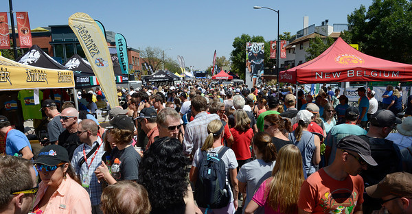 A packed Pearl Street, east of 17th Street, during the USA Pro Cycling Challenge in Boulder Saturday Aug. 25, 2012. (Lewis Geyer/Boulder Daily-Camera)