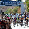 "Cyclists speed out of the start gate in Golden during the USA Pro Challenge on Saturday, Aug. 25. For more photos and video of the race go to  <a href=""http://www.dailycamera.com"">http://www.dailycamera.com</a><br /> Jeremy Papasso/ Camera"