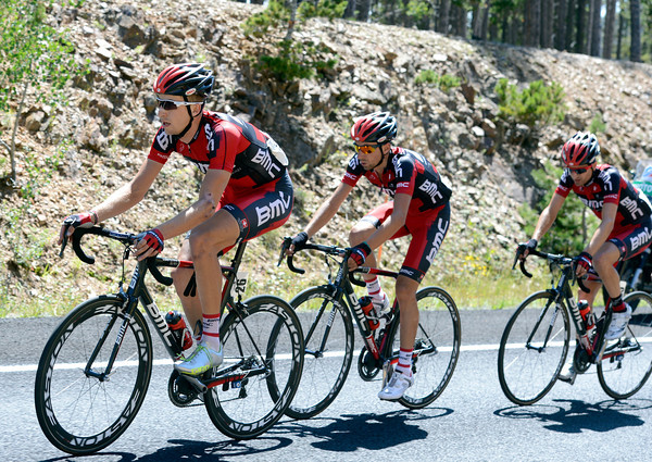 "Taylor Phinney leads the BMC Racing team during Stage 6 of the USA Pro Challenge on Saturday, Aug. 25. For more photos and video of the race go to  <a href=""http://www.dailycamera.com"">http://www.dailycamera.com</a><br /> Jeremy Papasso/ Camera"