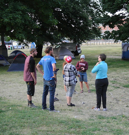 Protesters form calm camp at Kirtland Park