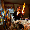 KRISTOPHER RADDER — BRATTLEBORO REFORMER<br /> Caitlin Burch, owner of Caitlin Burch Glassworks, in Putney, Vt., uses a torch to make a glass bead on Monday, Nov. 25, 2019. Burch and other artists will open up their studios for the annual Putney Craft Tour on Nov. 29 to Dec. 1, 2019.