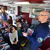 KRISTOPHER RADDER - BRATTLEBORO REFORMER<br /> Students at Putney Central School explore vehicles from various first responder agencies as part of a Safety Day event on Thursday, April 26, 2018.