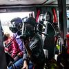 KRISTOPHER RADDER - BRATTLEBORO REFORMER<br /> Putney Central School fifth-graders Emma Fuller and Natalie Norwood wear breathing masks inside a Putney fire truck during a Safety Day event at Putney Central School on Thursday, April 26, 2018.