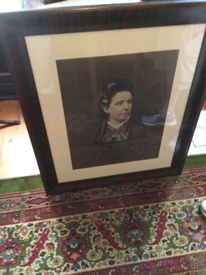 ANNIE RYAN HYRA / SPECIAL TO THE GAZETTE A photo of Sophia Huntington Parker is at the Medina County Historical Society. She was the inspiration for the building of the recently demolished Pythian Sisters home on Huntington Street.