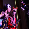 "KRISTOPHER RADDER - BRATTLEBORO REFORMER<br /> Elijah Jenson and Noah Raymond as Turkator surround Brian White as Ronado during a dress rehearsal of ""Questery"" on Monday, May 14, 2018."