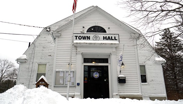 BEN GARVER — THE BERKSHIRE EAGLE<br /> RIchmond Town Hall is historic and outdated.  The building was originally built as a community center and evolved to be town offices. The Board of Selectmen meet in a room that was once a community stage and none of the working offices can be reached without using a staircase, so people who cannot manage stairs have to wait for someone to come to the door to help them. Wednesday, December 4, 2019.