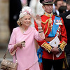 Britain's Prince and Princess Michael of Kent leave after the wedding service at Westminster Abbey at the Royal Wedding in London Friday, April, 29, 2011. (AP Photo/Martin Meissner)