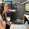 BEN GARVER — THE BERKSHIRE EAGLE<br /> Marjo Catalano prepares the afternoon show at Live 95.9 (WBEC) in Pittsfield. Townsquare Broadcasting company is buying a cluster of Berkshire radio stations from Gamma Broadcasting LLC including WBEC, WUPE, WNAW and WSBS.