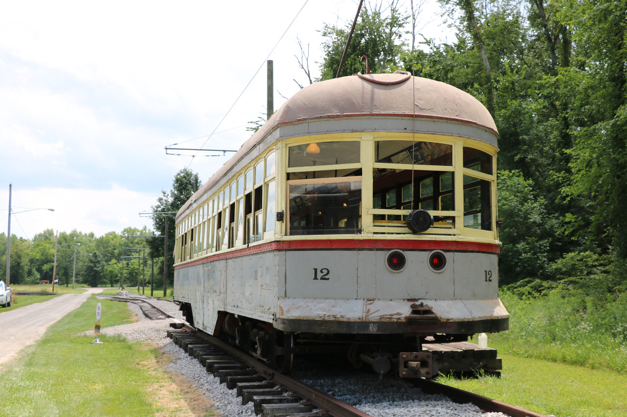 """LUCAS FORTNEY / GAZETTE Guests can ride """"Car 12"""" every second Saturday of the month at the Northern Ohio Railway Museum from 11 a.m. until 3 p.m. Fares are $4 for adults (ages 13-and-up), $2 for ages 6-12 with ages 5 and younger free when accompanied by an adult."""