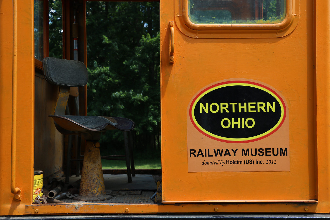 LUCAS FORTNEY / GAZETTE Last August, the Northern Ohio Railway Museum acquired a 1960 Plymouth locomotive from Holcim US Inc. The locomotive has since been repainted and sits near the museum's entrance.