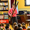 KRISTOPHER RADDER - BRATTLEBORO REFORMER<br /> Members of the Vermont Symphony Orchestra's woodwind trio, Raising Cane!, performed in front of a group of students at Saxtons River Elementary on Monday, May 14, 2018.