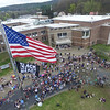 KRISTOPHER RADDER - BRATTLEBORO REFORMER<br /> Nearly 300 high school students from Brattleboro Union High School gather to show support for the Black Live Matter flag being raised in front go the school on Friday, May 4, 2018.