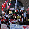 Rally at Lowell City Hall to oppose political opression in Myanmar. (SUN/Julia Malakie)