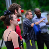 KRISTOPHER RADDER - BRATTLEBORO REFORMER<br /> People attend a rally to support New England Center for Circus Arts' coaches and founders at the new trapezium building on Putney Road on Friday, July 14, 2017.